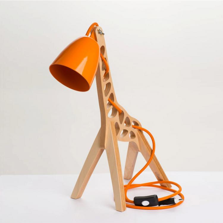 Giffy Is a Wooden Giraffe Shaped Lamp