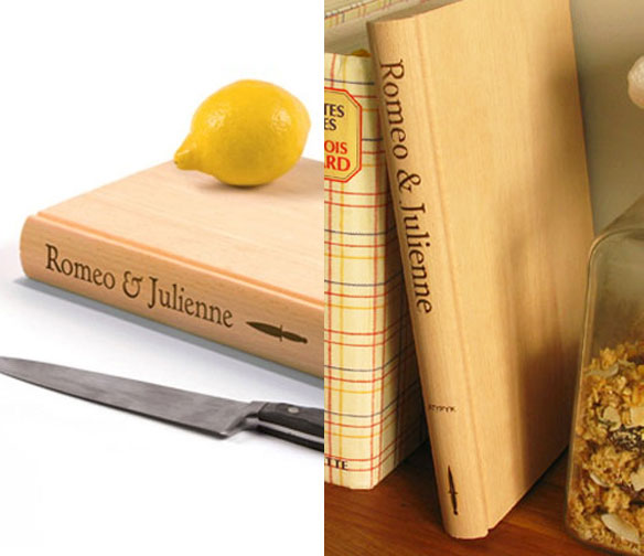 Romeo & Julienne Book Shaped Cutting Board