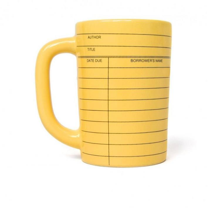 Library Card Coffee Mug