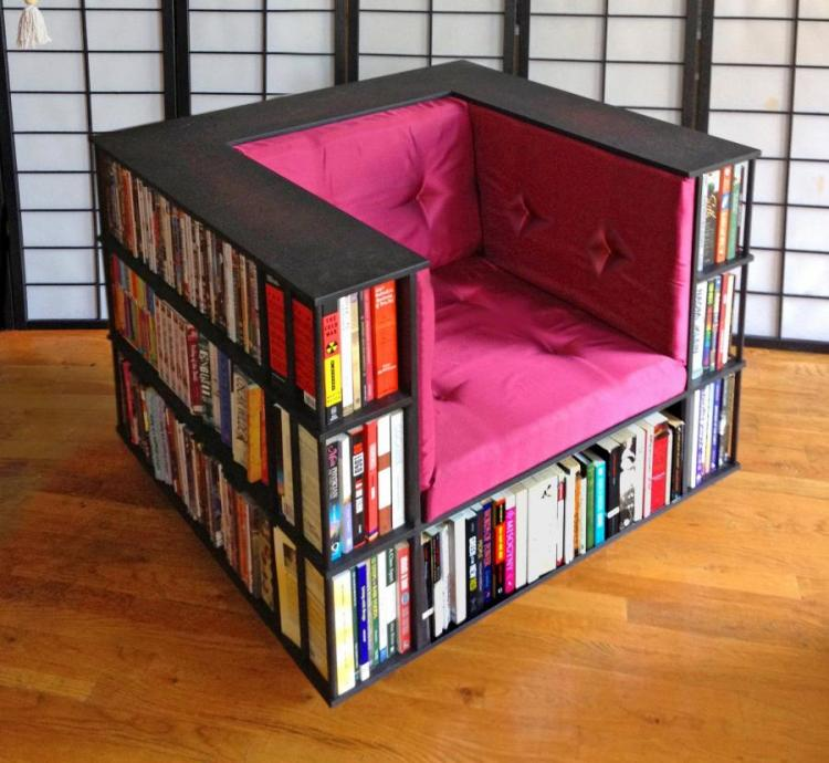 A Reading Chair That Doubles as a Bookcase