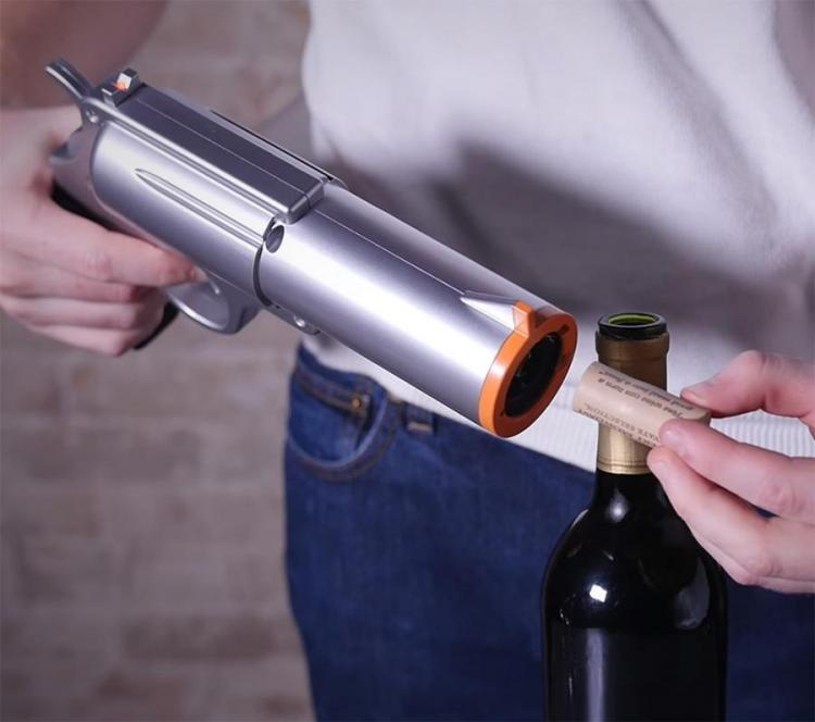 Wine Gun Opens Your Bottle Of Wine With the Pull of a Trigger