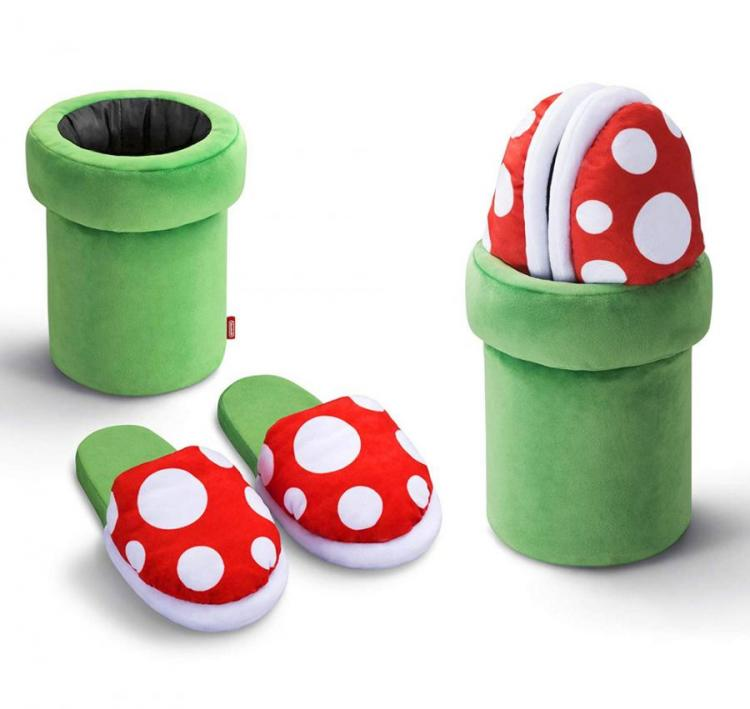 Mario Piranha Plant Slippers