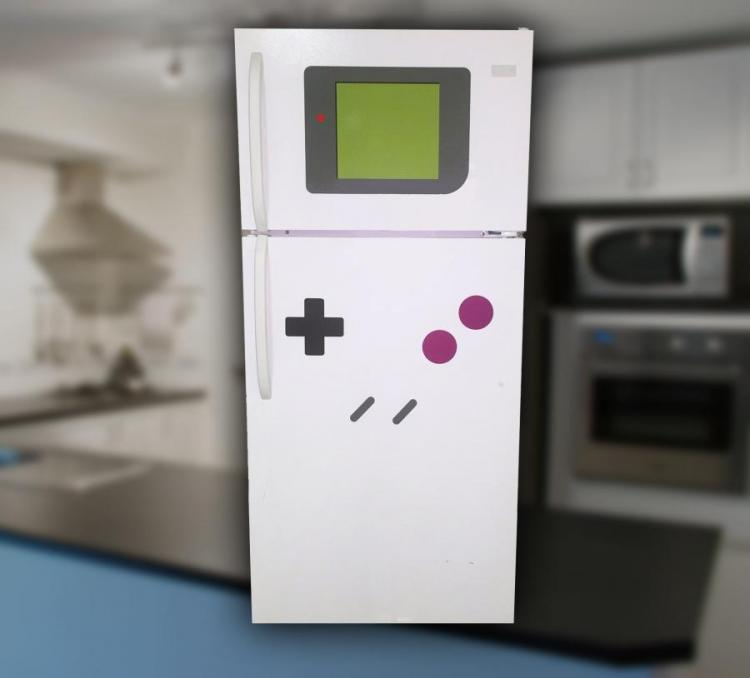 Magnets That Turn Your Refrigerator Into a Giant Game Boy