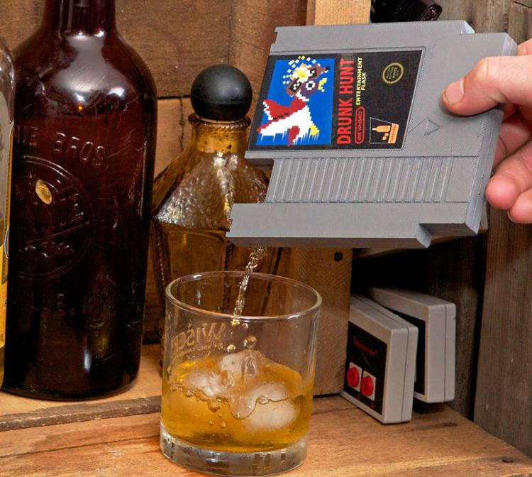 NES Cartridge Secret Drinking Flask