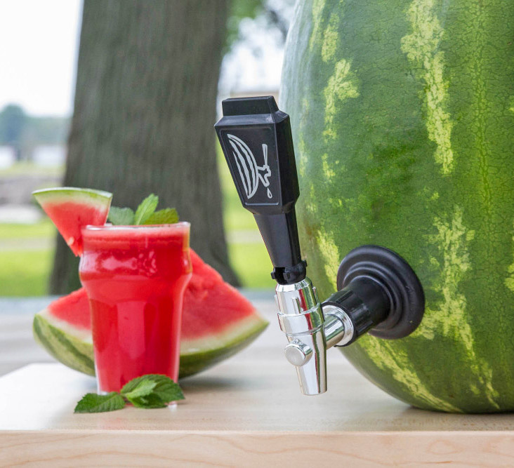 Watermelon Keg Tap Turns Any Watermelon Into a Drink Dispenser