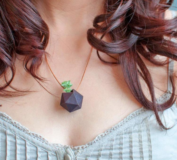 Tiny Wearable Planters You Can Wear as a Necklace