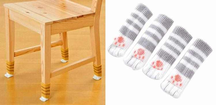 Cat Paw Chair Socks (Set of 4)