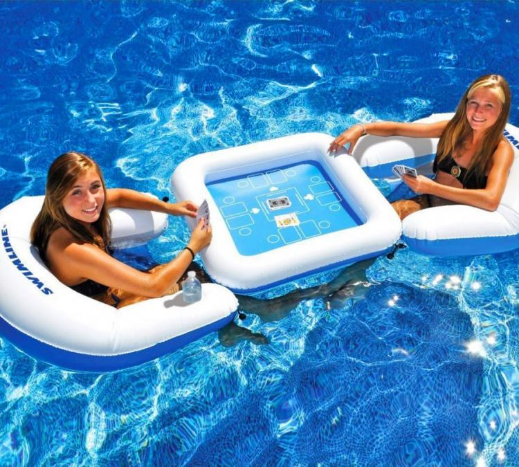 Floating Card Table For Card Games In The Pool
