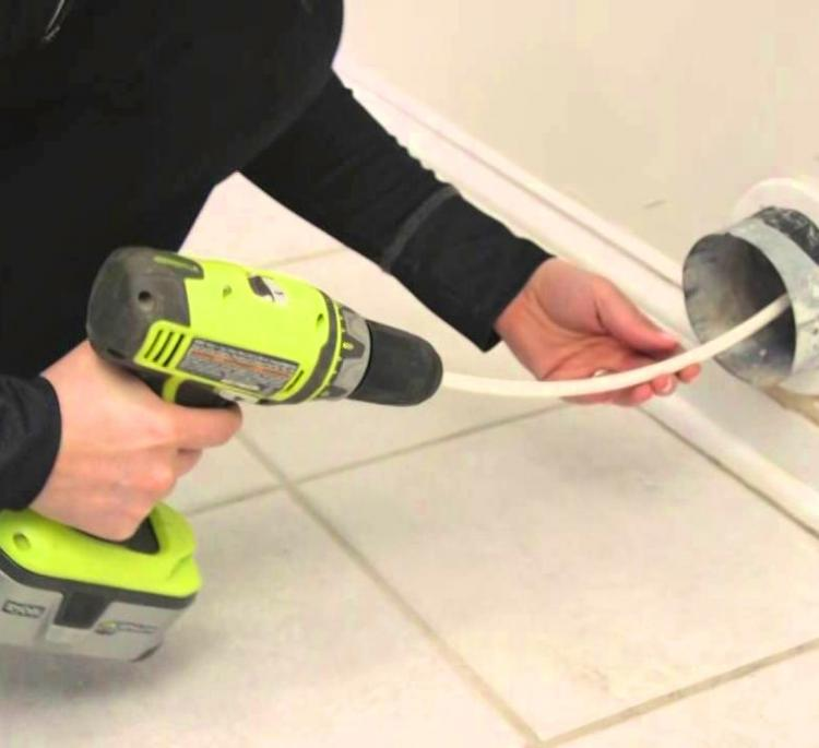 Drill Attachment Dryer Duct Vent Cleaner