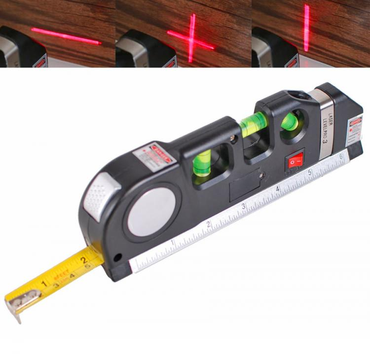 Multi-Purpose Laser Level and Tape Measure