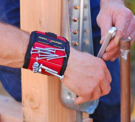 MagnoGrip: Magnetic Wristband That Holds Nails, Screws, and Tools On Your Wrist