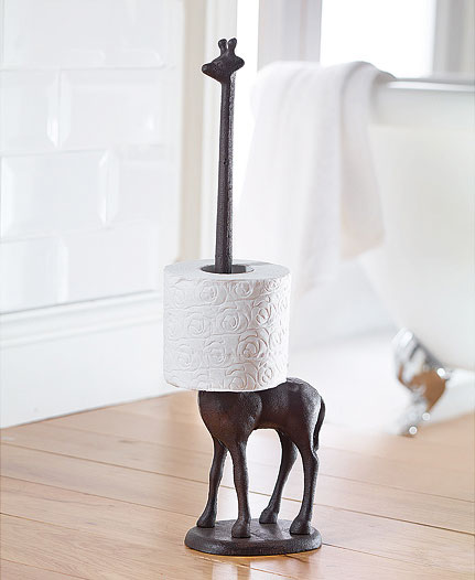 Giraffe Toilet Paper and Paper Towel Holder