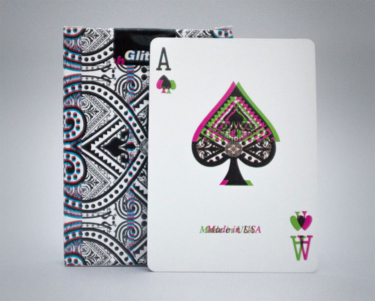 GLITCH Playing Cards - Ace of Spades