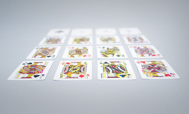GLITCH Playing Cards Layed Out