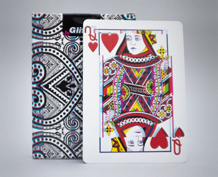 GLITCH Playing Cards - Queen of Hearts