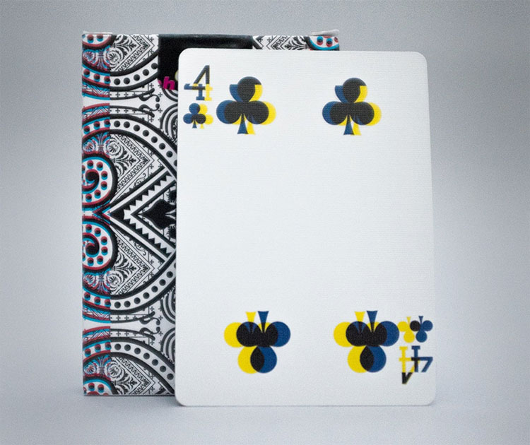 GLITCH Playing Cards - 4 of Clubs