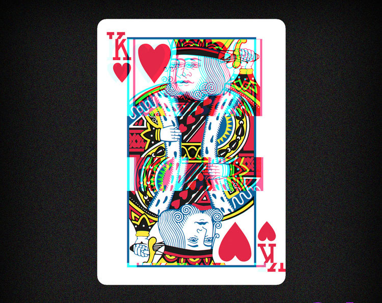 GLITCH Playing Cards - King of Hearts