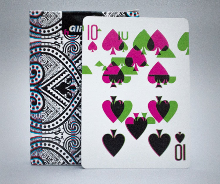 GLITCH Playing Cards - 10 of Spades