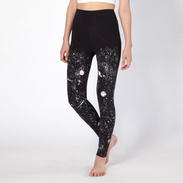 Glow In The Dark Solar System Women s Leggings - Glowing women s space  leggings e1c95fe462