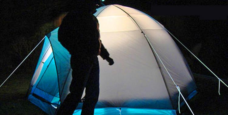 Glow In The Dark Tent Rope Prevents Tripping At Night