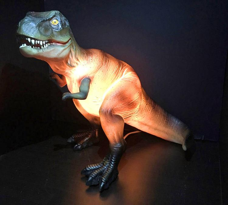 Glowing Dinosaur Table Lamp - T-Rex dinosaur night-light