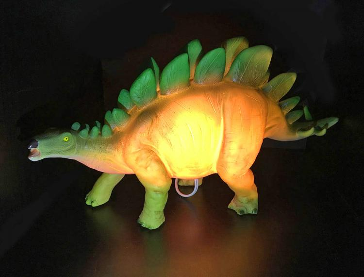 Glowing Dinosaur Table Lamp - Stegosaurus dinosaur night-light