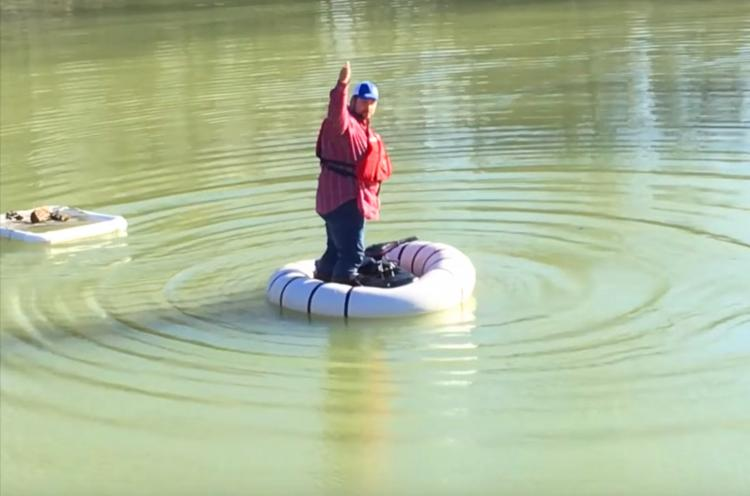 The Go Boat Personal Bumper Boat - Inflatable one-person fishing boat - one person hunting boat