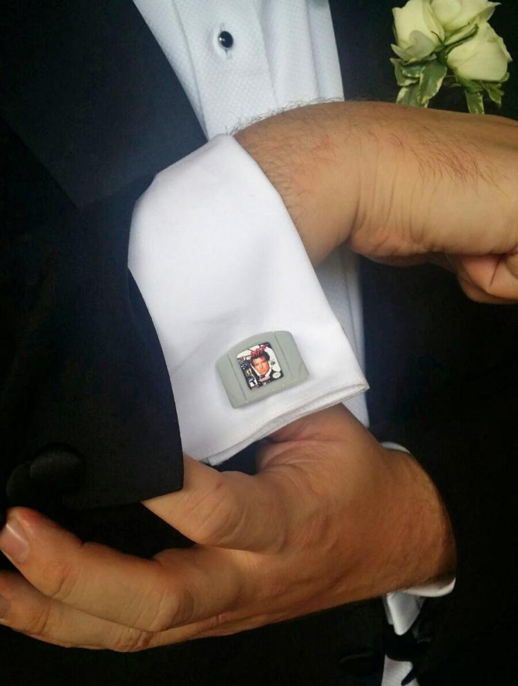 Goldeneye 007 Nintendo 64 Game Cartridge Cufflinks