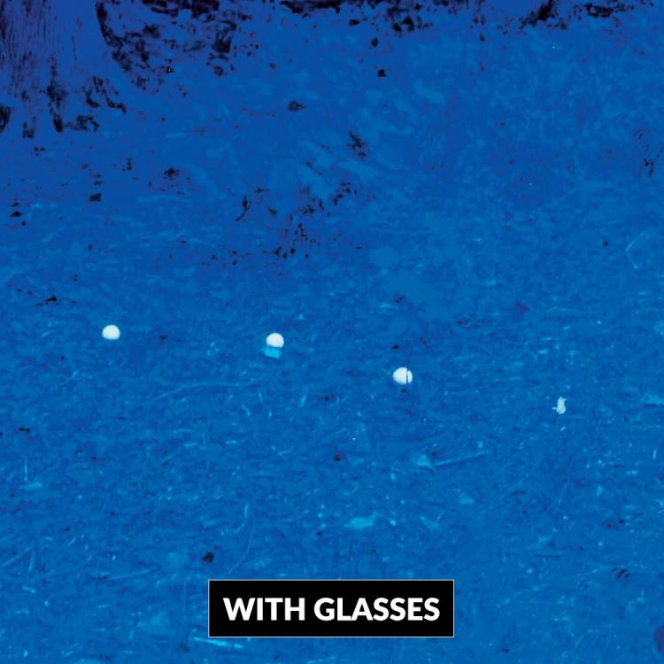 Golf Ball Finding Sunglasses - Golfing Glasses Help You Find Your Lost Golf Ball - Turns Everything Blue Except Your Golf Ball