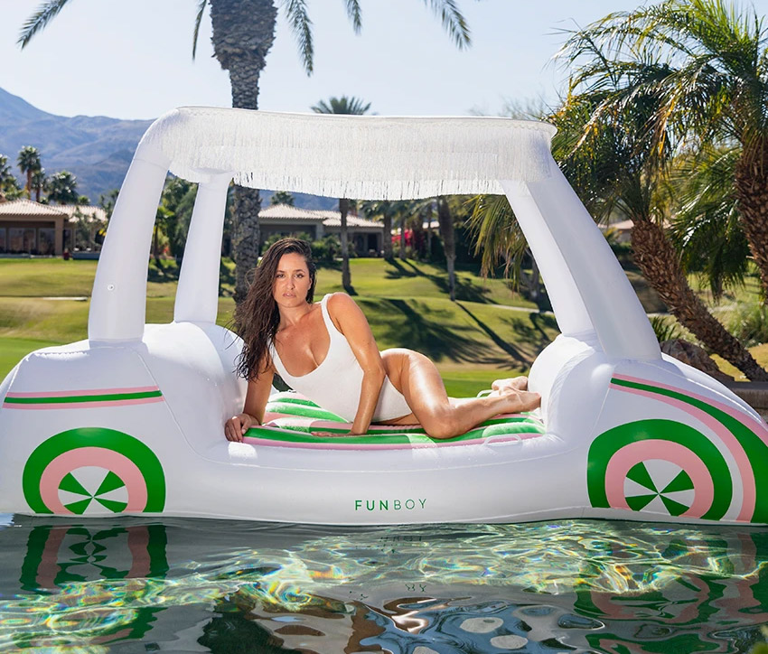 Golf Cart Pool Float - Giant inflatable golf cart float