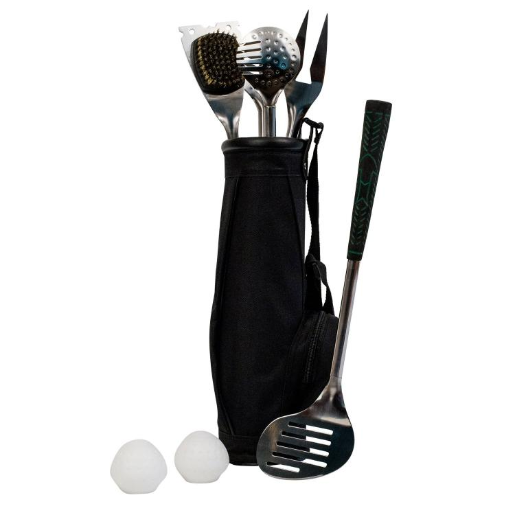 Golf Club BBQ Grilling Set With Golf Club Grip Handles
