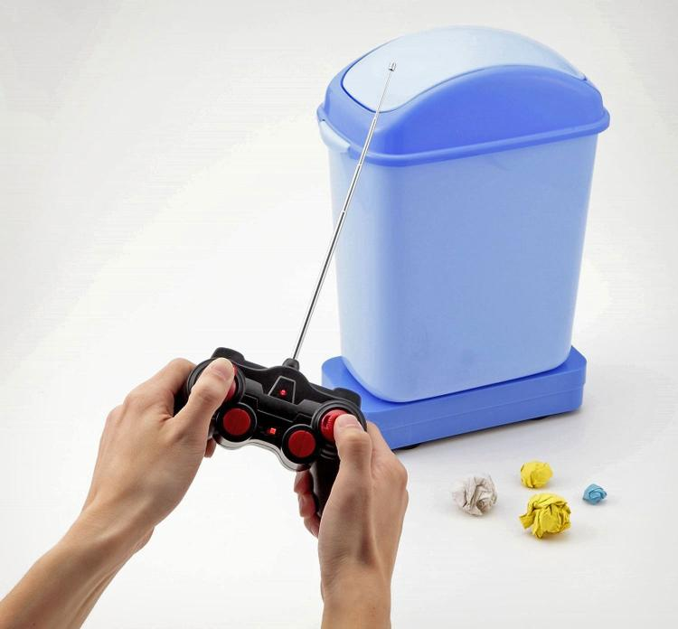 Gomiba Go Remote Controlled Garbage Can - Weird Japanese RC Garbage Can On Wheels