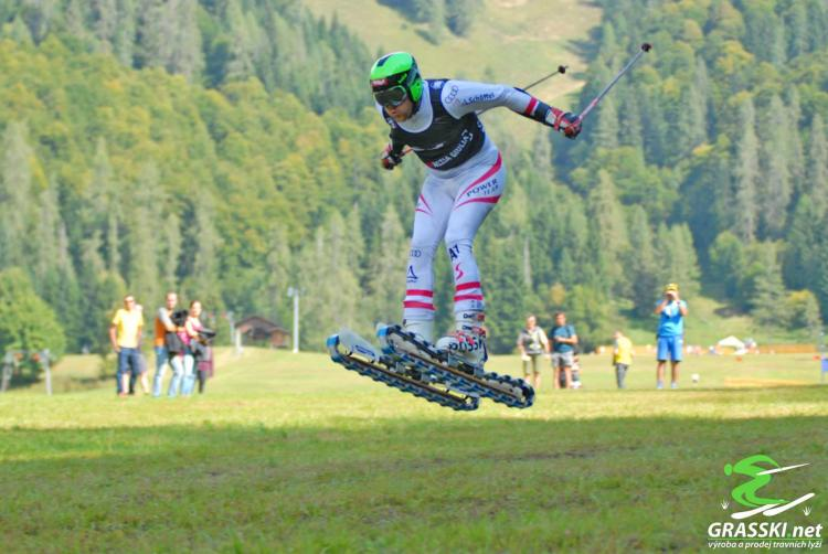 Grass Skis Let You Downhill Ski In The Summer - Rolling downhill skis - Tank track skis