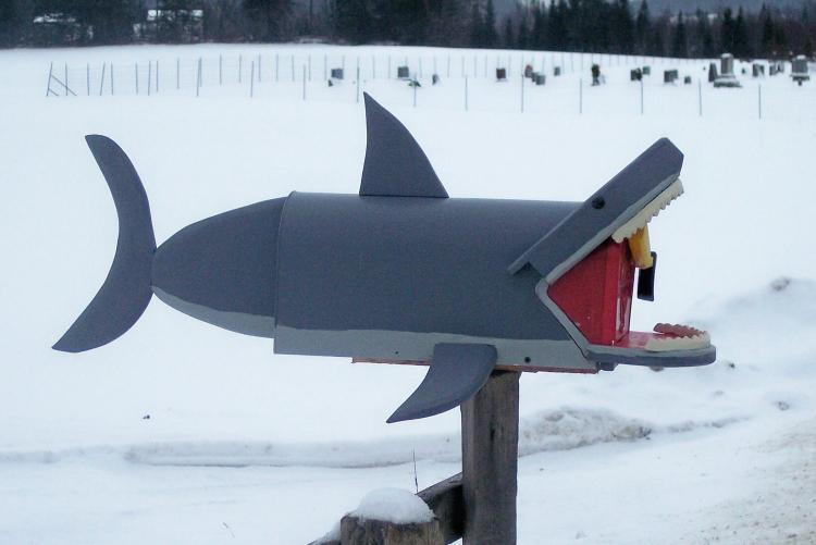 Great White Shark Mailbox - Best novelty mailboxes
