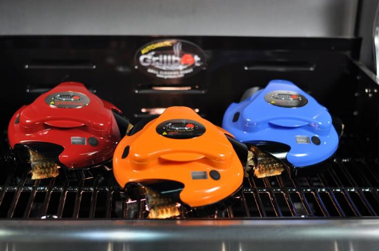 Grillbot Robotic Grill Cleaner - Grill scrubbing robot - Grillbot cleans grill like a roomba robot
