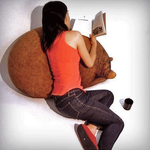 Realistic Grizzly Bear Bean Bag Chair