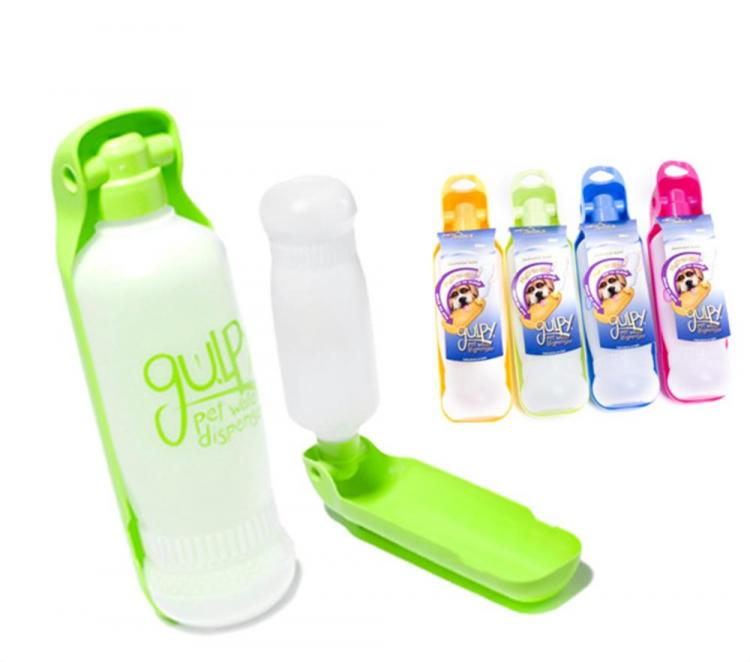 Portable Dog Water Bottle >> Gulpy: A Travel Dog Water Bottle With a Retractable Bowl