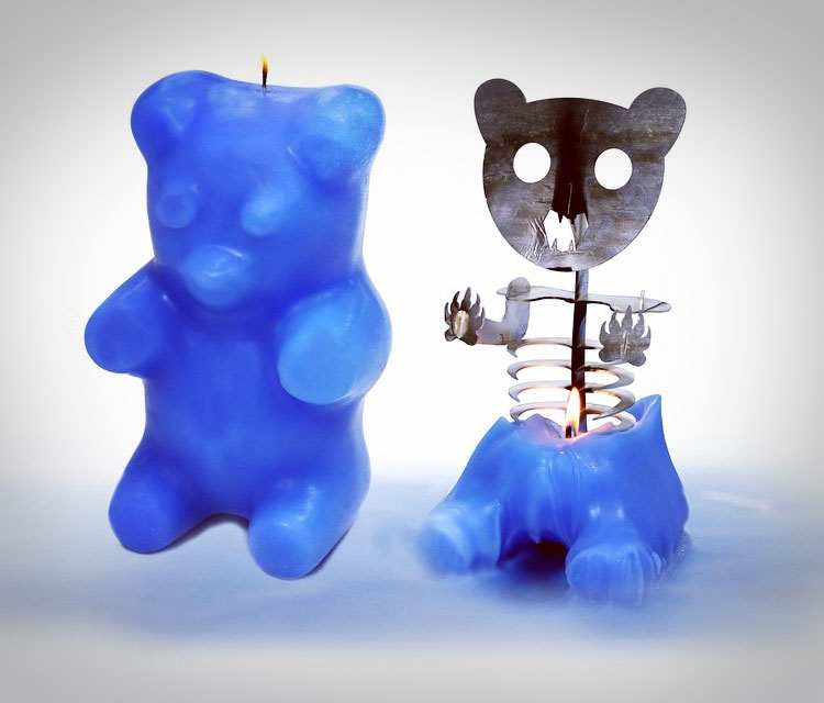 Gummi Bear Skeleton Candle