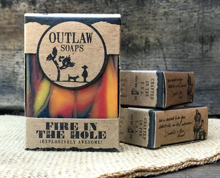 Fire In The Hole Soap Smells Like Gunpowder, Campfire, and Whiskey - Manliest soap