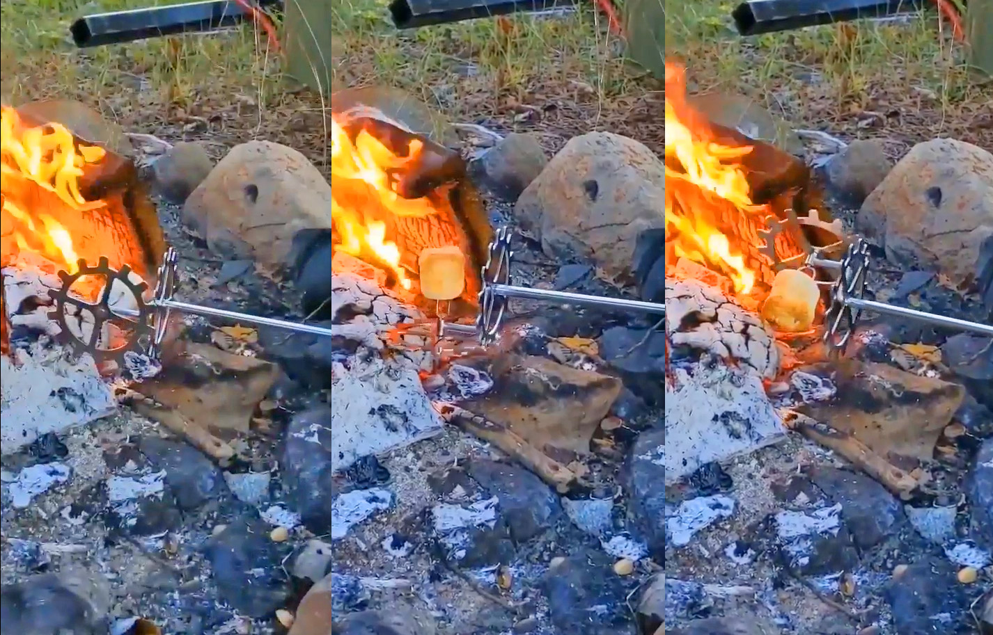 Gyroaster Turns Your Marshmallow on 2-Axis Rotation For Perfectly Toasted Mallows - Marshmallow rotating camping gadget
