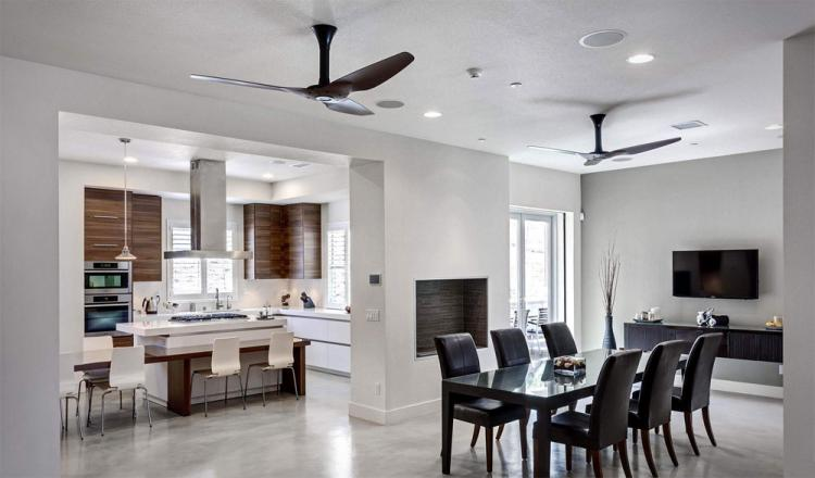Haiku Smart Fan Turns on when you enter the room - voice activated smart ceiling fan