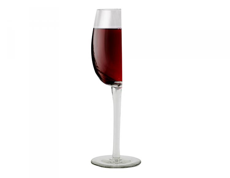 Barbuzzo Half Wine Glass - Cut in half wine glass