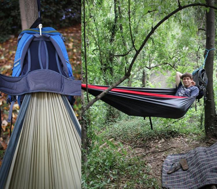 This Backpack Has a Built-In Hammock