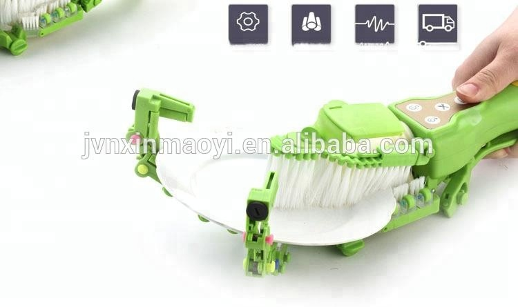 Handheld Automatic Dish Scrubber - Dish washing gadget automatically spins dish while it scrubs