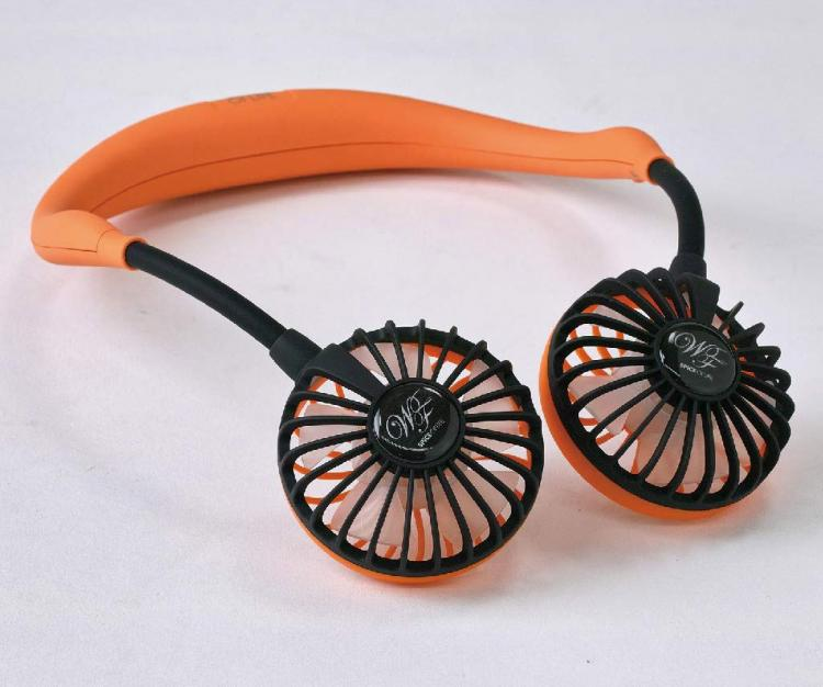 Hands-free neck fan - dual fans that wraps around your neck - W-fan spice of life