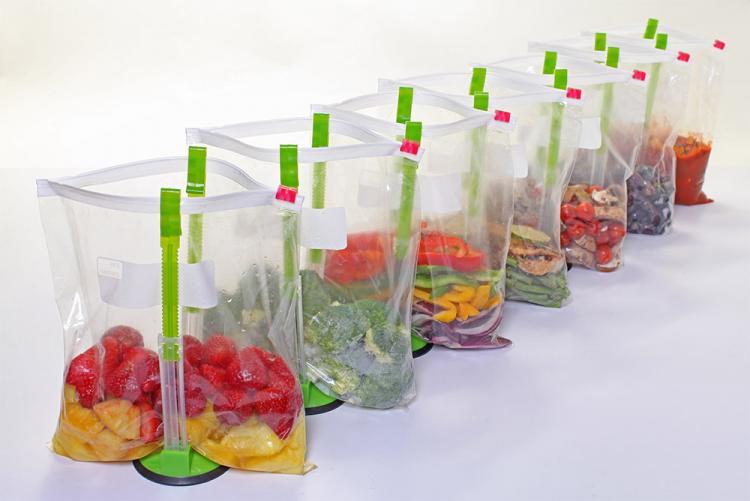 Hands-Free Package Baggy Food Storage Bag Holder Opener Clip Fine Practical #I9Z