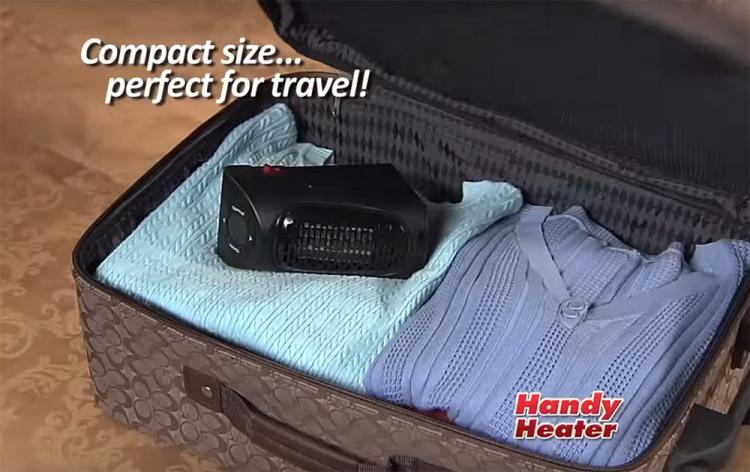 Handy Heater - Mini portable heater attaches to any outlet - Mini outlet space heater