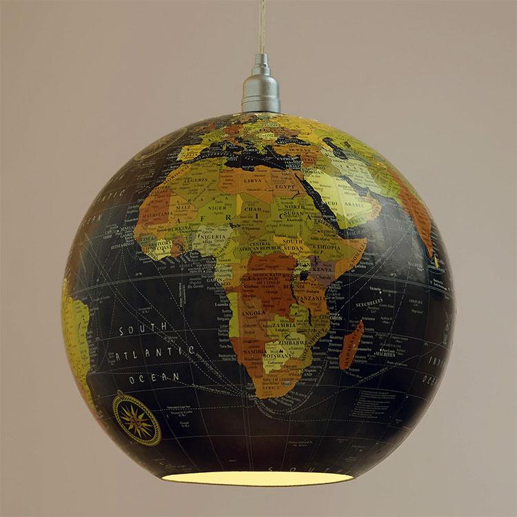 Wall Mounted Globe Lamp : Hanging Globe Lamp