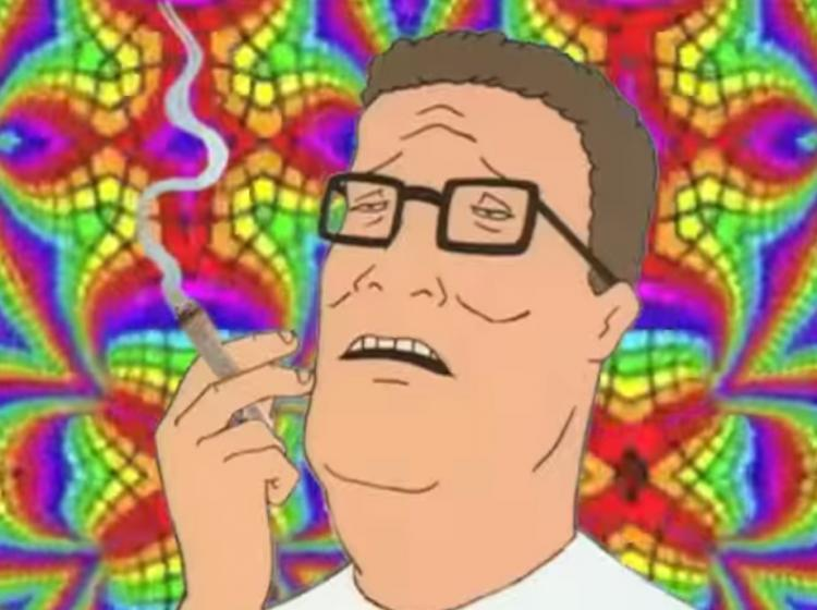 Hank Hill Getting High