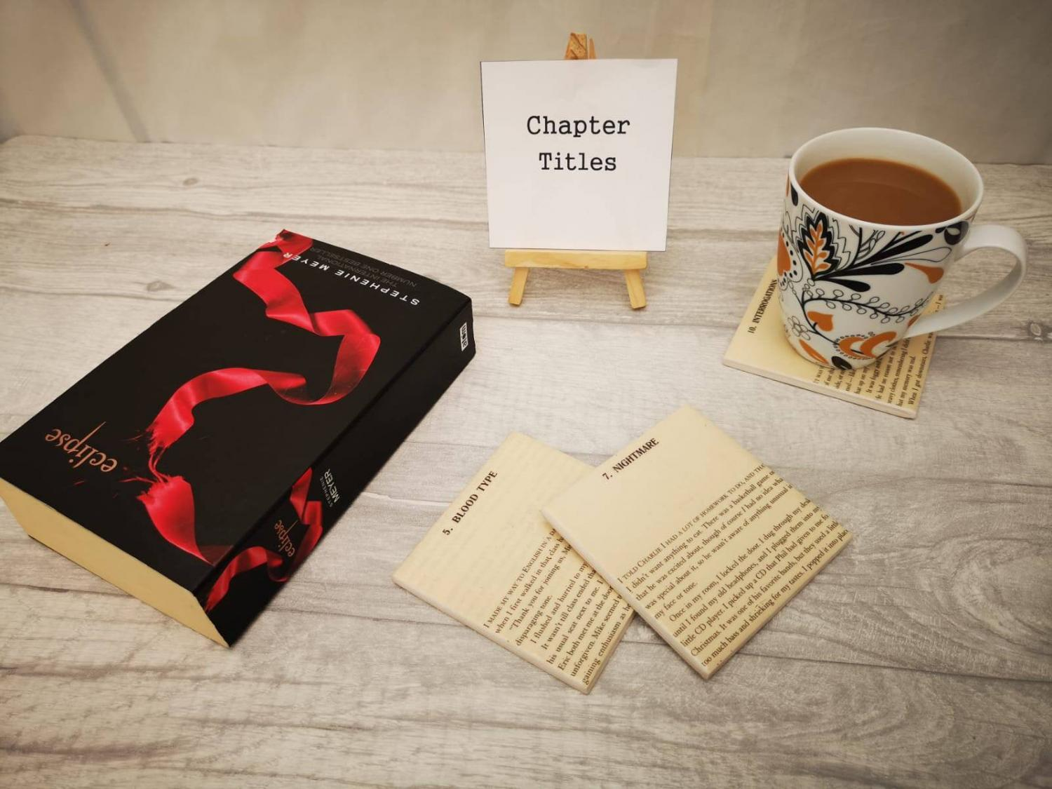 Twilight Novel Coasters Let You Read a Page Every Time You Put Your Cup Down